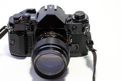 Macchina fotografica della pellicola SLR Fotografia Stock