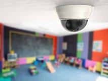 macchina fotografica della videocamera di sicurezza o del cctv della rappresentazione 3d Fotografie Stock Libere da Diritti