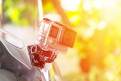 Macchina fotografica di azione di alta qualità Fotografia Stock