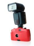 Macchina fotografica di Brandless con il flash fotografia stock