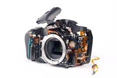 Macchina fotografica di Broked DSLR Immagini Stock