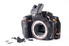 Macchina fotografica di Broked DSLR Immagini Stock Libere da Diritti