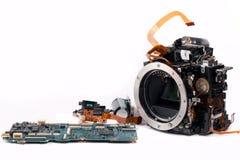 Macchina fotografica di Broked DSLR Fotografia Stock Libera da Diritti