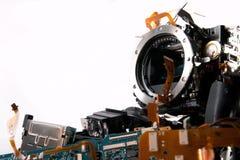 Macchina fotografica di Broked DSLR Fotografia Stock
