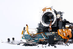 Macchina fotografica di Broked DSLR Immagine Stock