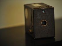 Macchina fotografica di casella antica Fotografia Stock