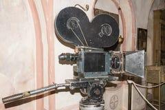 macchina fotografica di cinematografia 35-millimetro secolo scorso Immagine Stock Libera da Diritti