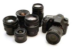 Macchina fotografica di Digitahi intercambiabile dell'obiettivo fotografie stock libere da diritti