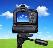 Macchina fotografica di DSLR Immagine Stock