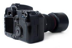 Macchina fotografica di Dslr con l'obiettivo di zoom Fotografia Stock