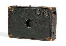 Macchina fotografica di legno Fotografia Stock