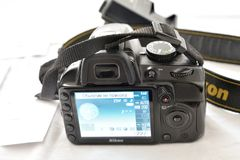 Macchina fotografica di Nikon d3100 Immagini Stock