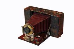 Macchina fotografica di piegatura antica Fotografia Stock