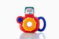 Macchina fotografica di plastica del giocattolo Immagine Stock