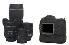 Macchina fotografica di SLR Fotografie Stock
