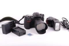 Macchina fotografica di SLR Immagine Stock