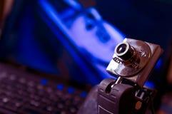 Macchina fotografica di Web Immagini Stock