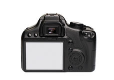 Macchina fotografica digitale moderna di SLR fotografie stock