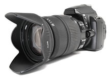 Macchina fotografica digitale nera. Fotografia Stock