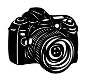 Macchina fotografica digitale nera Fotografie Stock Libere da Diritti