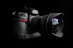 Macchina fotografica digitale professionale della foto Fotografia Stock