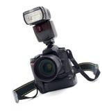 Macchina fotografica digitale professionale isolata Fotografia Stock