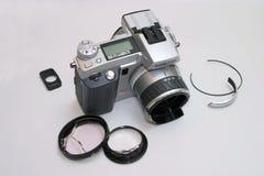 Macchina fotografica digitale rotta Immagini Stock