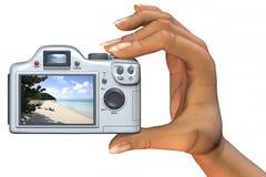 Macchina fotografica a disposizione Immagine Stock