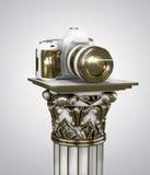 Macchina fotografica dorata Immagini Stock Libere da Diritti