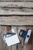 Macchina fotografica e foto della foto dell'annata Fotografia Stock