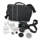 Macchina fotografica ed accessori Immagine Stock Libera da Diritti