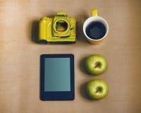 Macchina fotografica gialla Fotografia Stock Libera da Diritti