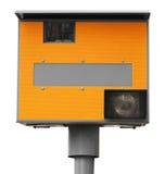 Macchina fotografica gialla di velocità di traffico Immagine Stock