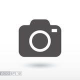 Macchina fotografica - icona piana Immagine Stock