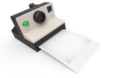 Macchina fotografica istantanea della foto con la foto in bianco per la vostra immagine o logo Immagine Stock