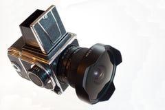Macchina fotografica media classica dello slr della pellicola di formato Immagini Stock Libere da Diritti