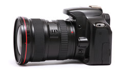 Macchina fotografica moderna di DSLR Fotografia Stock