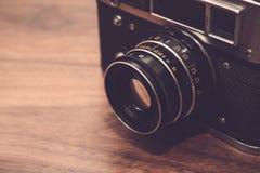 Macchina fotografica nello stile d'annata Fotografia Stock