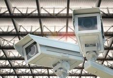 Macchina fotografica o videocamera di sicurezza del CCTV Fotografie Stock