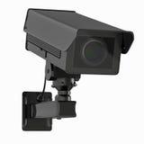 Macchina fotografica o videocamera di sicurezza del Cctv isolata su bianco Immagini Stock Libere da Diritti