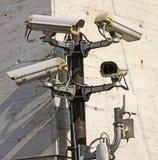Macchina fotografica per videosorveglianza e controllo con il connecti senza fili Fotografia Stock Libera da Diritti