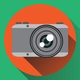 Macchina fotografica piana della foto di colori di vettore Immagine Stock Libera da Diritti
