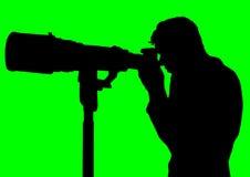 Macchina fotografica professionale Fotografia Stock Libera da Diritti