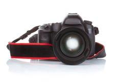 Macchina fotografica professionale classica isolata fotografie stock libere da diritti