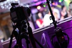 Macchina fotografica professionale della foto ad un evento immagine stock libera da diritti