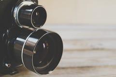 Macchina fotografica reflex dell'Gemellare-Obiettivo Fotografia Stock Libera da Diritti