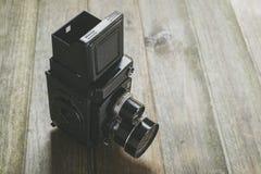 Macchina fotografica reflex dell'Gemellare-Obiettivo Fotografia Stock