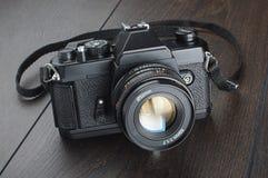 Macchina fotografica reflex della singola lente del film Immagine Stock