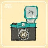 Macchina fotografica retro Fotografia Stock