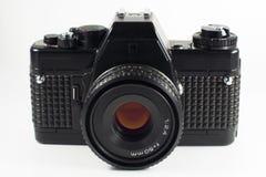 Macchina fotografica riflessa della pellicola isolata fotografie stock